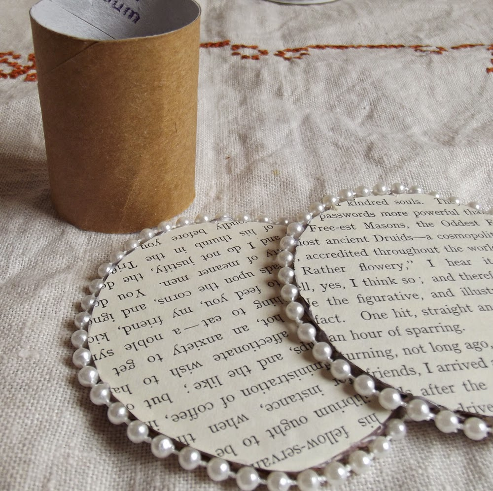 toilet rolls cardboard craft pearls book pages