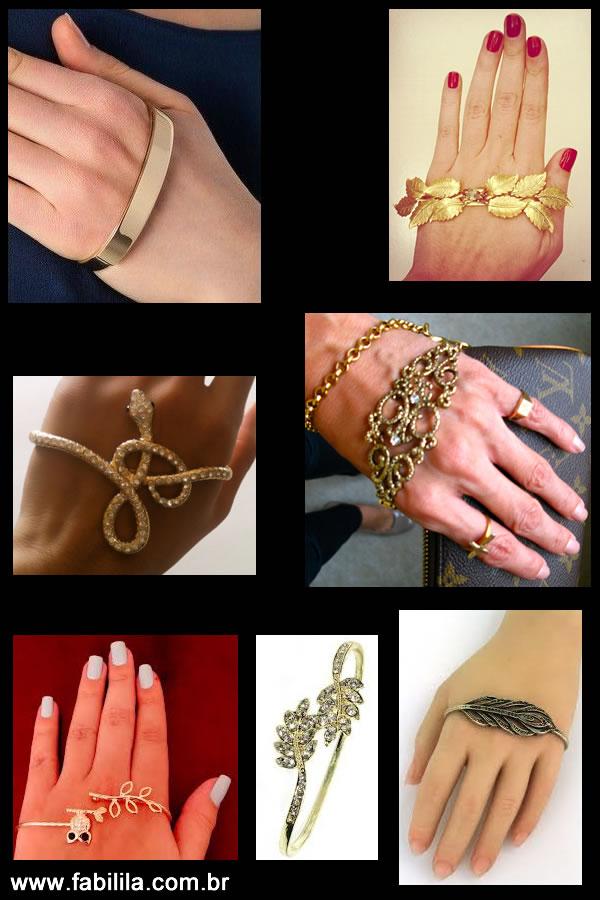 Hand Palm Bracelet, pulseira de mão, bracelete de mão