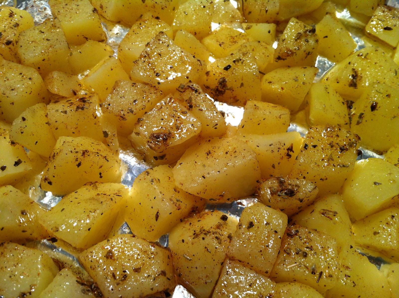 Inukares patatas al horno y papas arrug s con alioli - Patatas pequenas al horno ...