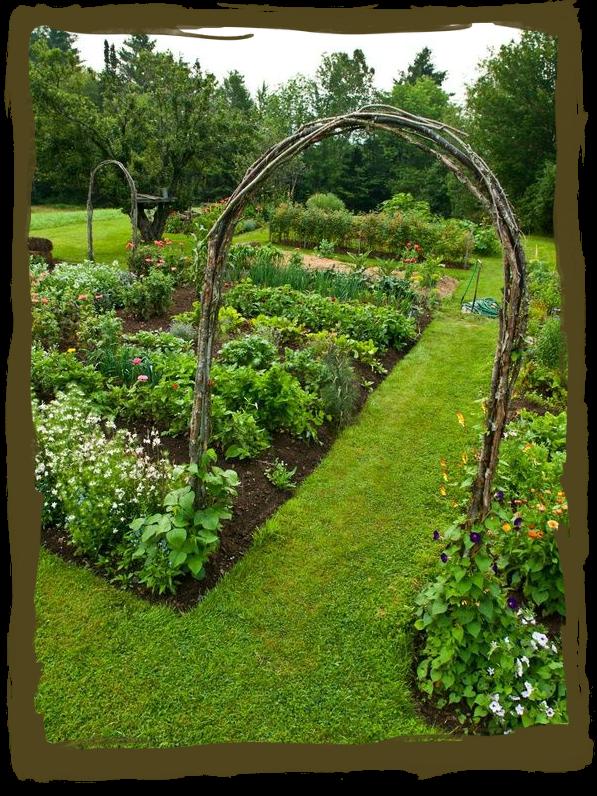 have some decorum: Potager...That\'s Fancy for Veggie Garden