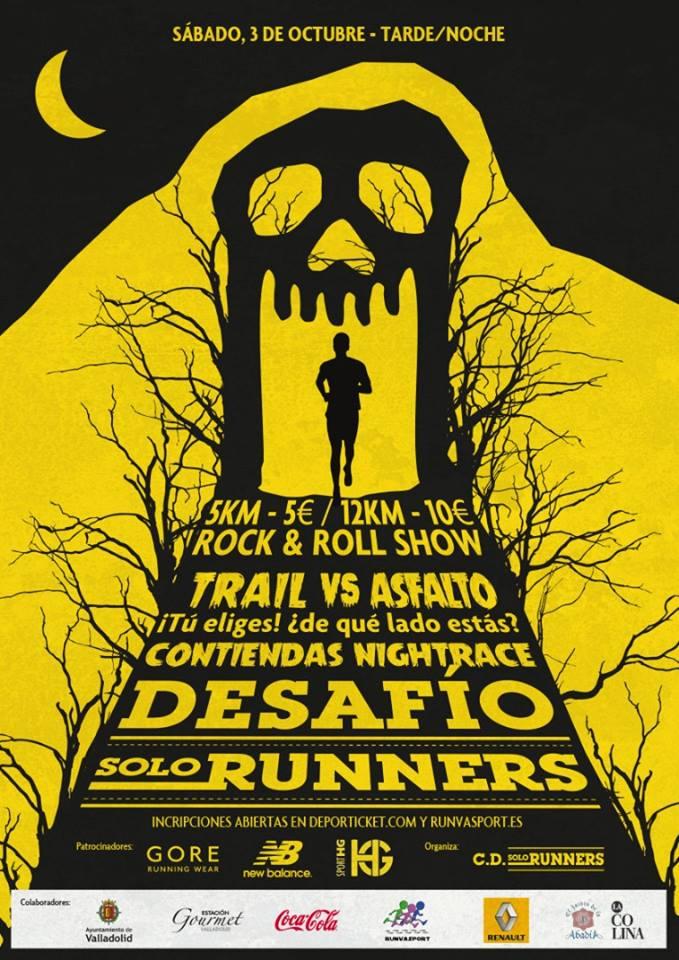Cartel de Contiendas NightRace Desafío Solorunners. /TRAILCYL