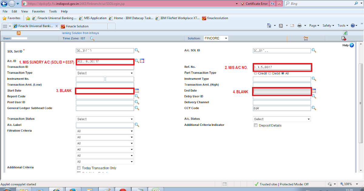 Mis ledger view hfti in dop finacle champion post - Sa post office tracking number ...