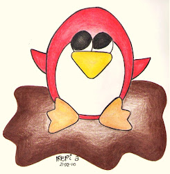 Un pingüino rojo