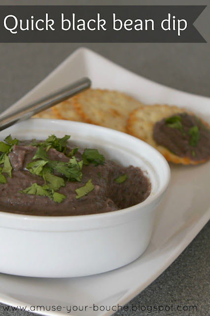 Quick black bean dip recipe