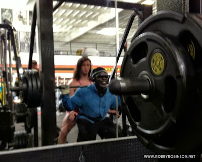 ROBBY ROBINSON AND BLAKE GINSBURG - SMITH MACHINE SQUATS DURING MASTER CLASS WITH RR IN GOLD'S GYM VENICE, CA 2013 Robby's CONSULTATION Services to answer your questions about bodybuilding, old school training and healthy lifestyle - ▶ www.robbyrobinson.net/consultation.php