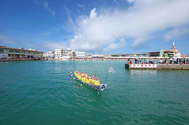 sabani, boat race, dragon boat Itoman Port, summer