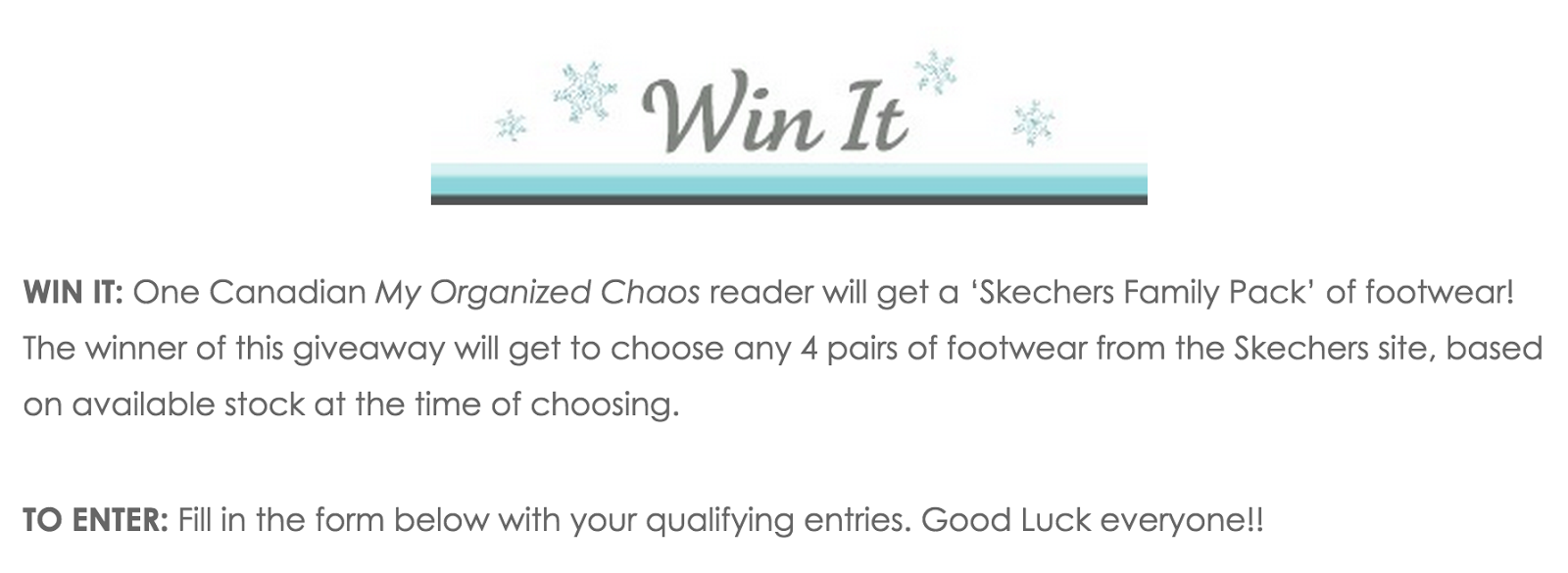 image Skechers 2015 Giveaway - My Organized Chaos