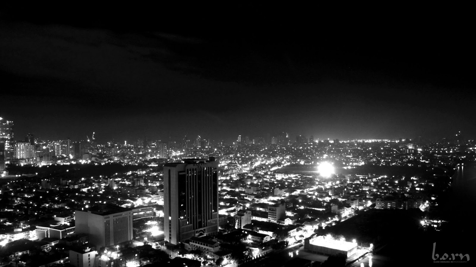 Makati Cityscape from the roof top Tivoli Residence