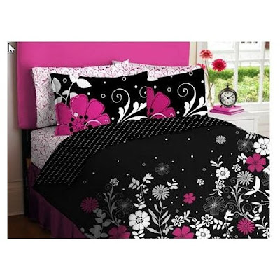 Black And Pink Teen Girls Queen Comforter Set Recommend!