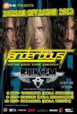 Conciertos de Vanderbuyst y Bilksem en Madrid, Valencia, Zaragoza y Burgos en Noviembre