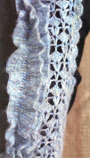 меланжевый голубой жилет