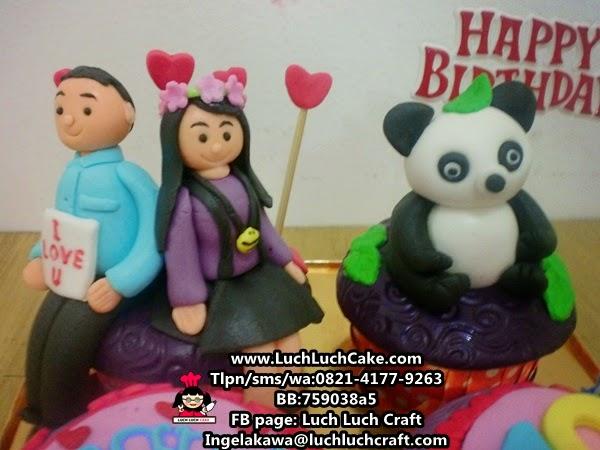 jual cupcake ulang tahun panda