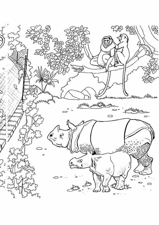 Boyama etkinlikleri hayvanat bah esi 2 devvar oguz - La savane dessin ...