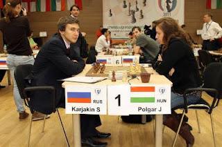 3e Tour : la Hongroise Judit Polgar s'est imposée avec les Blancs face à Karjakin © Site Officiel
