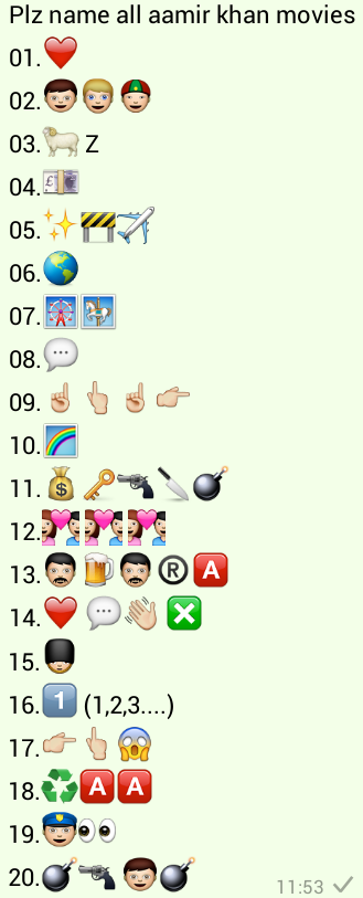Plz name all aamir khan movies