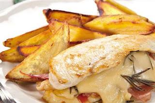Pechuga de pollo con jamon y queso