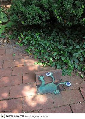 david zinn - sidewalk drawings 3d - street art on pavement