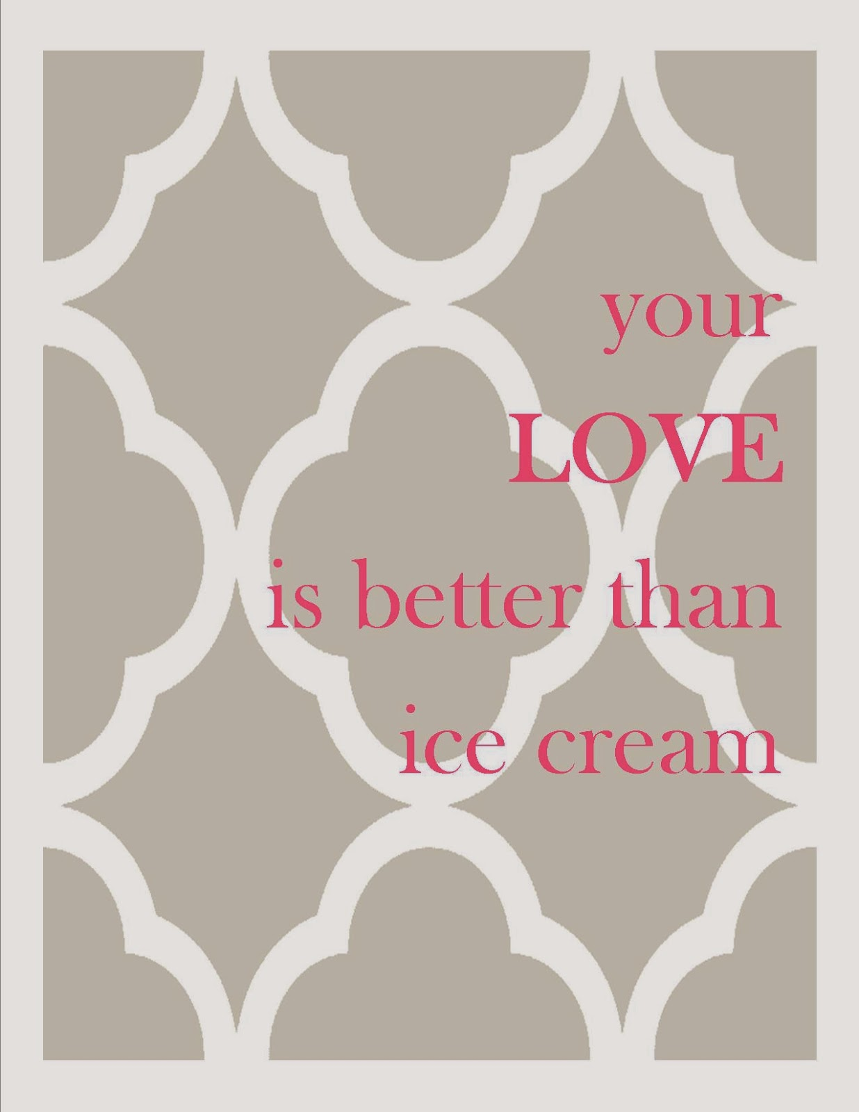 Commona My House: Freebie Friday: Your Love is Better than Ice Cream