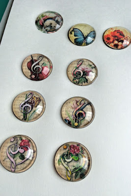 Group of photo glass cabochons done at same session