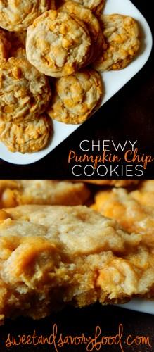 chewy pumpkin chip cookies (sweetandsavoryfood.com)