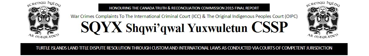 SQYX WAR CRIMES COMPLAINTS TO ICC AND OIPC