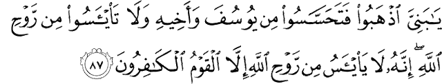Surat Yusuf Ayat 87