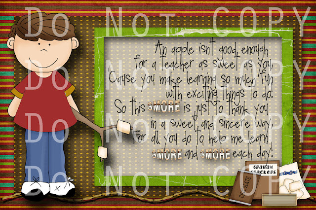 Here is the digital card I made using this s'more kit by Whimsy Primsy ...