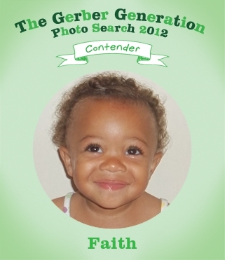 Gerber Baby Picture Contest on Vote For Faith At Http   Faith Paulus Me