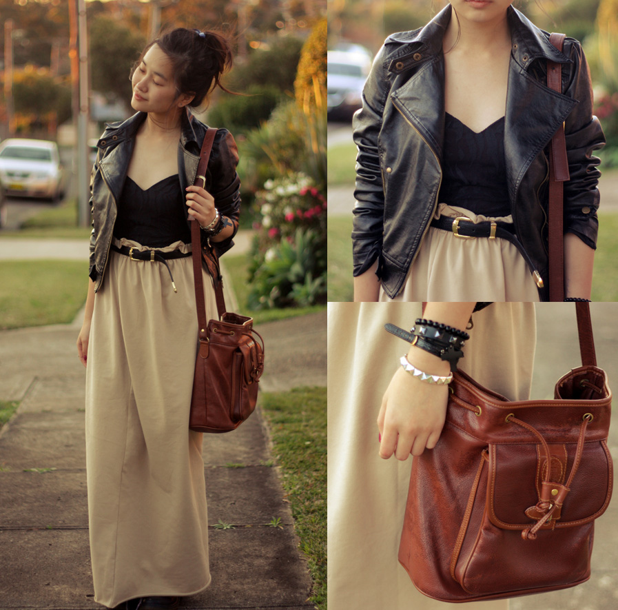 Leather jacket hijab - The Leather Jacket Gives This Mellow Looking Outfit A Bolder Feel Courtesy Of Jessica T