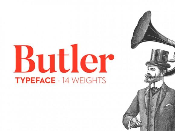 Download Font Terbaru dan Terbaik Januari 2016 - Butler Font