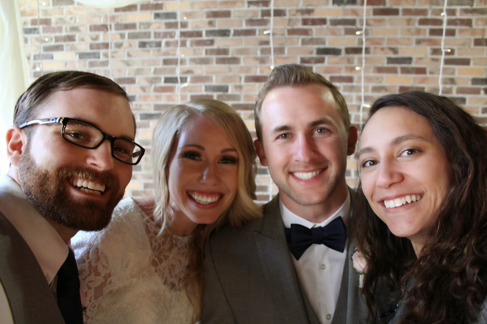 selfie with the newlyweds