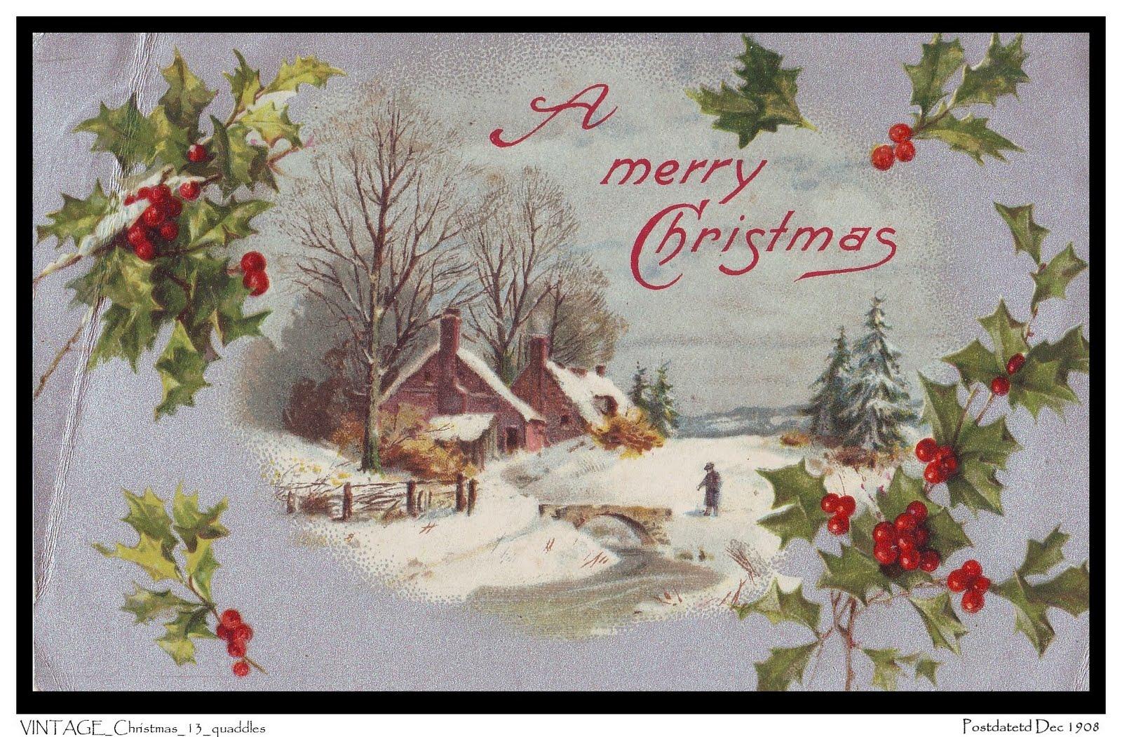 Vintage holiday wallpaper