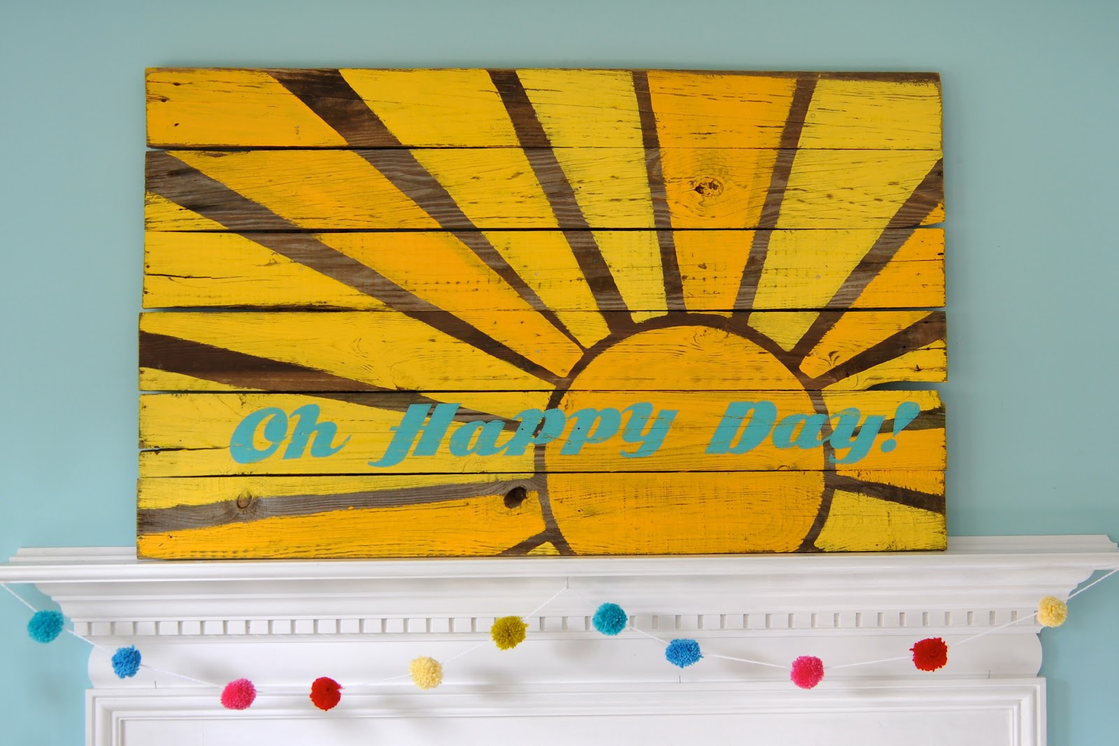 Little Bit Funky: Oh Happy Day! reclaimed wood art