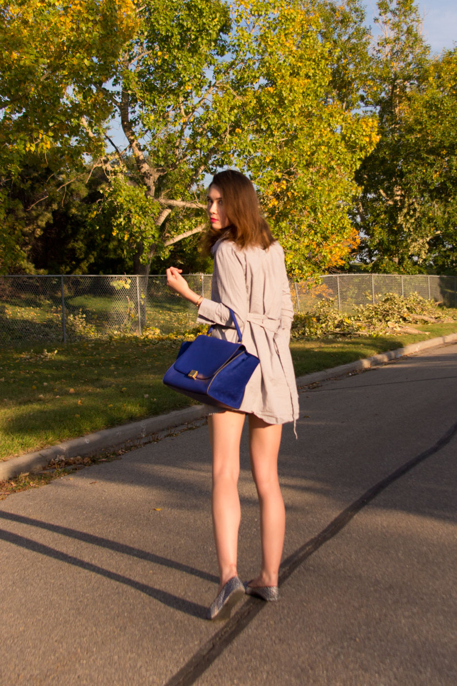 shirt dress, oxford shirt dress, loafers, Charles philip, Celine trapeze indigo, autumn fashion, fall fashion, summer to fall fashion, transitional dressing