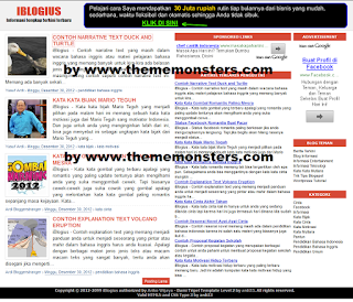 iblogius free simple fast blogger theme