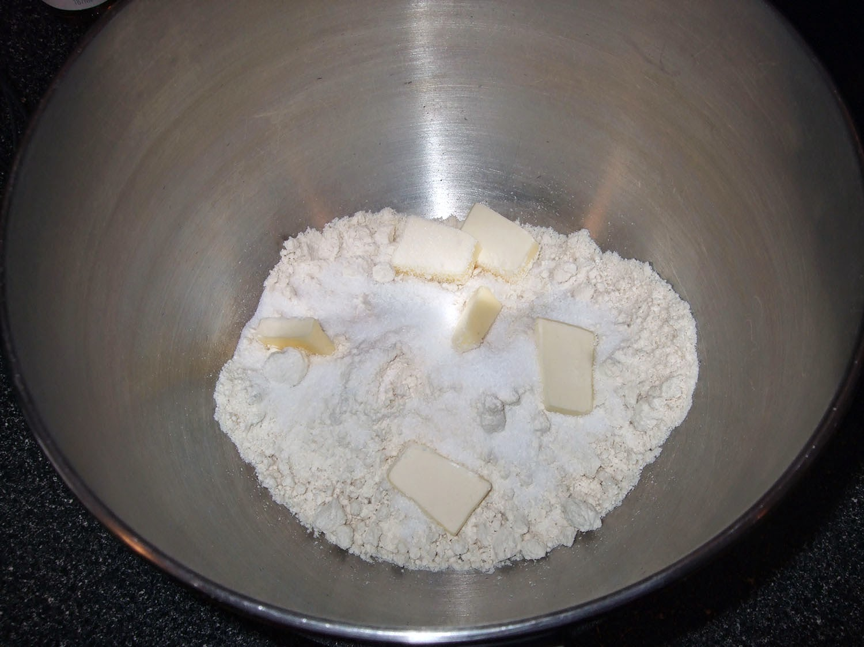 Cannoli shell dough without liquids.