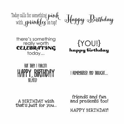 StampinUP stamp set: Remembering Your Birthday