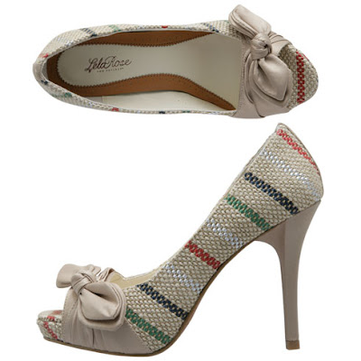 Jute Peep Toe Pumps