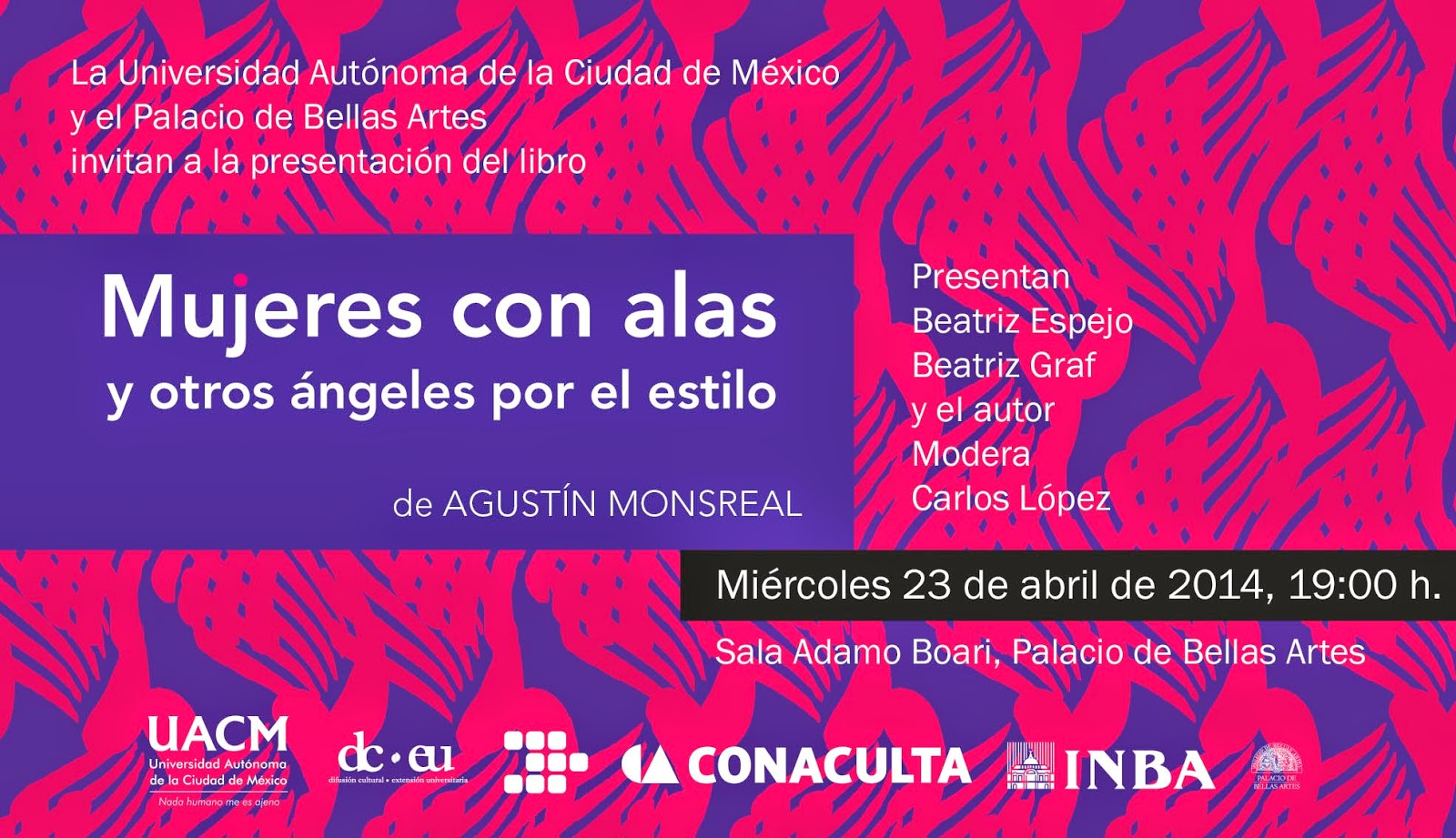 """Antología """"Mujeres con alas y otros ángeles por el estilo"""" del escritor Agustín Monsreal"""