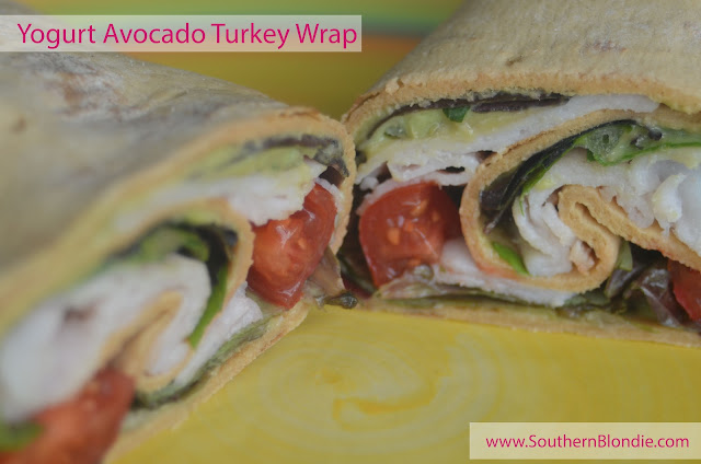 Yogurt Avocado Turkey Wrap