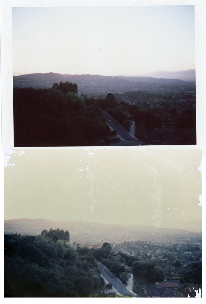 FP100C Positive print and bleached Negative
