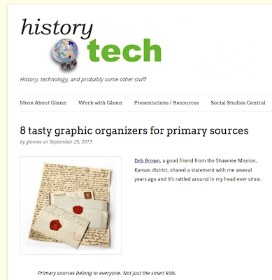 http://historytech.wordpress.com/2013/09/25/8-graphic-organizers-for-primary-sources/