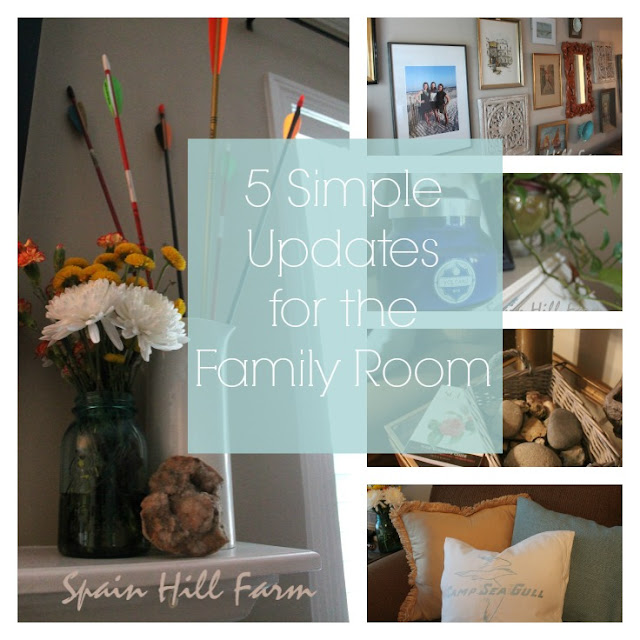 5 Simple Updates for the Family Room - Inexpensively