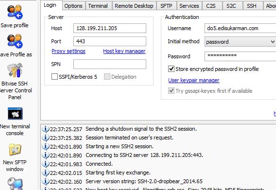 SSH Account Server Singapura (SG.DO) Gratis 31 Oktober 2014