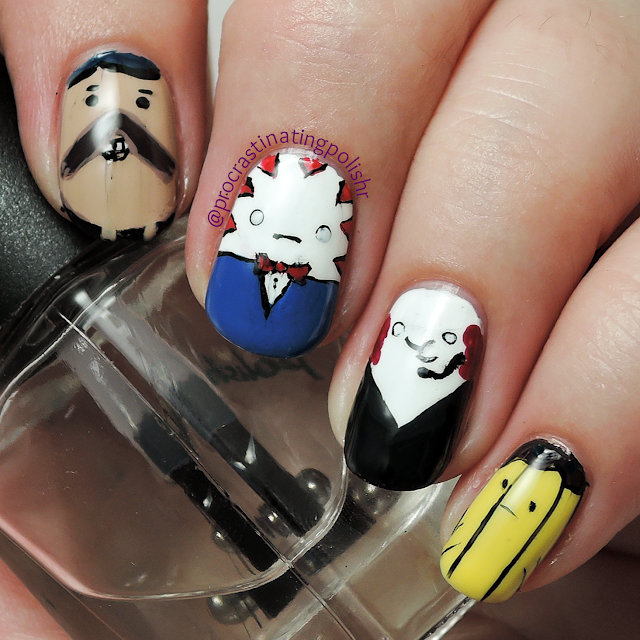 Best Nail Art of 2015 - Adventure Time Candy Peeps
