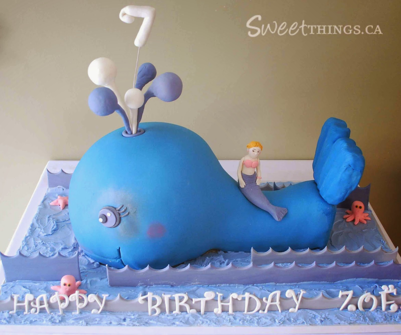 SweetThings Blue Whale Cake
