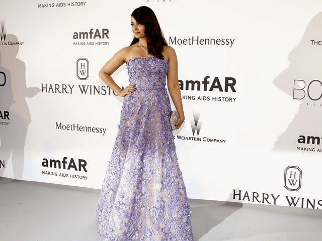 Cannes Fashion: Aishwarya Rai Bachchan Lights Up amfAR Gala in Elie Saab