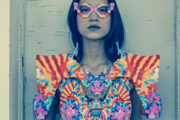 Perler beads, sabine ducasse, hamma, Lady Gaga, cuentas, plastico, Shanghai, China