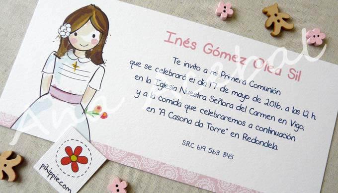 Pihippie invitaciones - Como hacer tarjetas para comunion ...