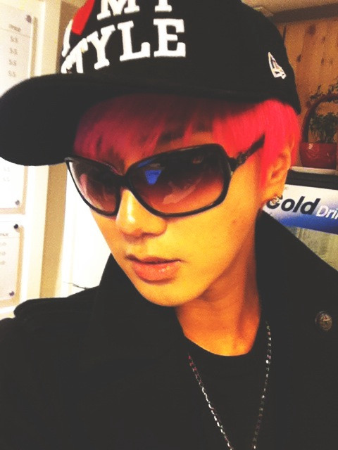 Yesung Super Junior Pink Hair Style 2